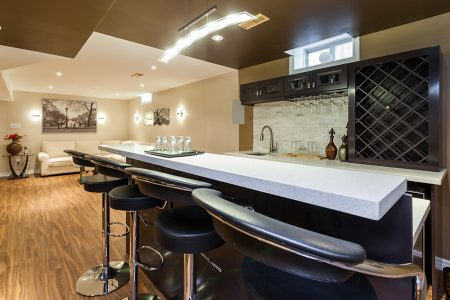 basement bar kitchen